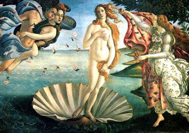 Sandro Botticelli, La Nascita di Venere, 1482-85 circa,  Galleria degli Uffizi, Fi