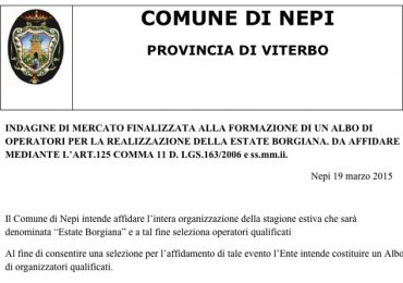 Comune di Nepi | Estate Borgiana 2015