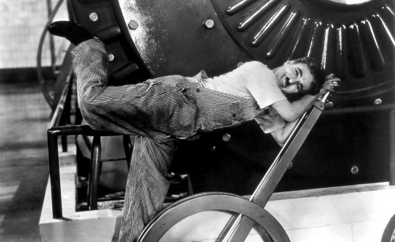 Publicity photo of Charlie Chaplin for Modern Times